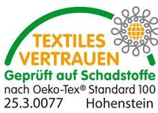 Zusammensetzung 85%Baumwolle und 15% Kapok. Oeko-Tex zertifiziert
