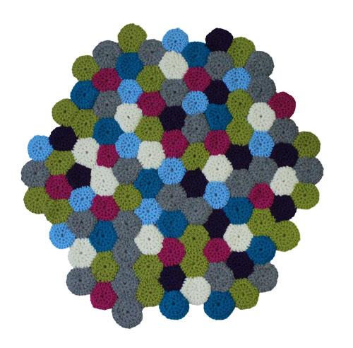 Häkelanleitung für einen Teppich von myboshi