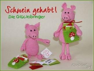 Kristinasart Glücksbringer Häkelanleitung Schweine Myboshinet