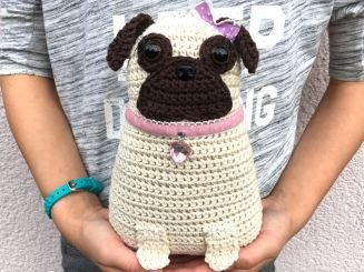 Crochetmama Häkelanleitung Mops Chanelle Myboshinet