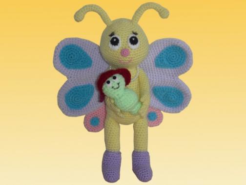 Häkelanleitung Bibsi der Schmetterling