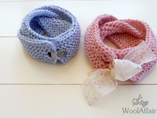 (21) Grobstrick Loop Schal fürs Baby stricken