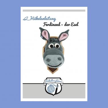 Häkeltrophäe Ferdinand, der Esel - Häkelanleitung, PDF