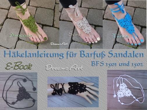 Häkelanleitung für Barfuß Sandalen BFS 1501 /1502