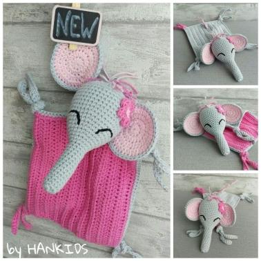 Schnuffeltuch Elefant - Häkelanleitung