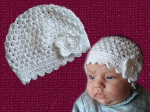 Häkelanleitung für Babymütze Leonie KU 36 - 40 cm