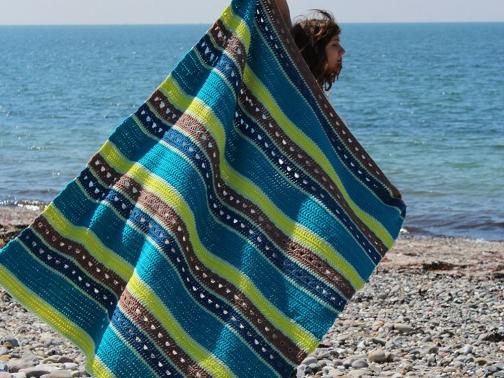 Häkelanleitung für Decke Arata