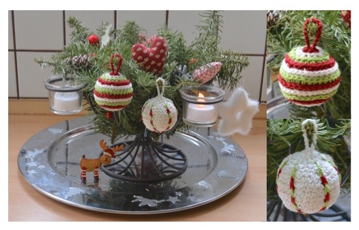 """Häkelanleitung """"Weihnachtskugeln 3"""