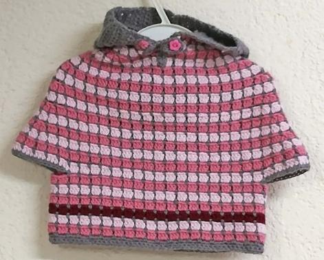 * Pünktchen* niedlicher Baby Poncho Pullover