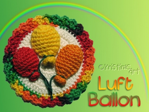 Häkelanleitung Luftballonbutton