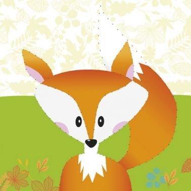 Stickbild Fuchs