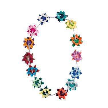 Häkelanleitung für Blumenkette Imari