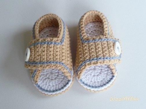 Babyschuhe Slipper - häkeln für Anfänger - No.2