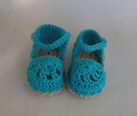 Häkelanleitung Babyschuhe/Sandalen
