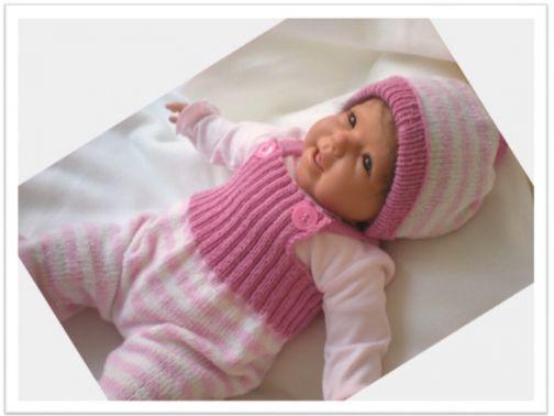 Babyhose mit Mütze