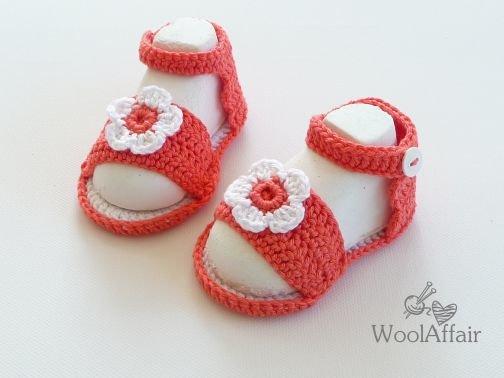 (20) Baby Sandalen mit Blume - Anleitung für Anfänger