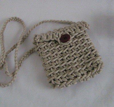 Häkelanleitung Tasche aus Bändchengarn Umhängetasche