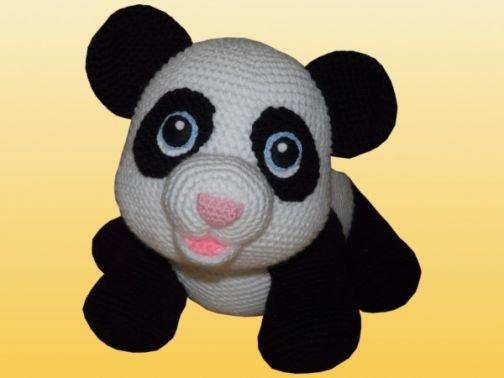Häkelanleitung Shiro der Panda XXL