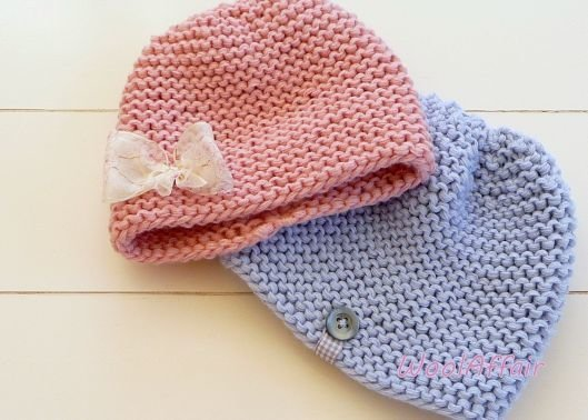 (24) Babymütze stricken schnell und einfach Grobstrick DIY