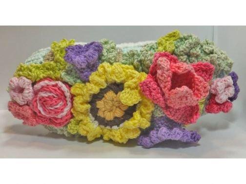 Blumengesteck gehäkelt - Tulpen, Rosen, Sommerblume