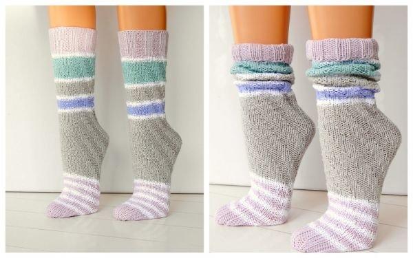(132) einfach und schnell SPIRALSOCKEN - Socken ohne Ferse