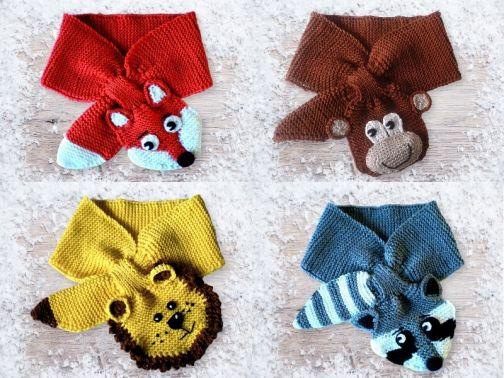 Ursula Petra Schal Für Kinder Und Kleinkinder Mit Tiermotiven