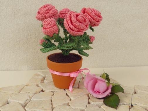 Häkelanleitung Rose