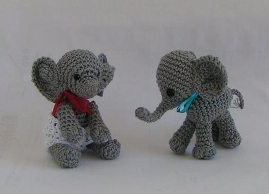 Häkelanleitung Elefanten Elli und Erich Amigurumi