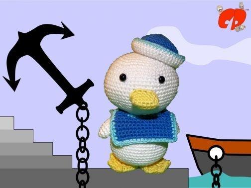 Häkelanleitung (039): Quack der Matrose