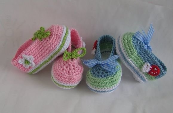 Häkelanleitung Baby-Ballerinas/Schnürschuhe