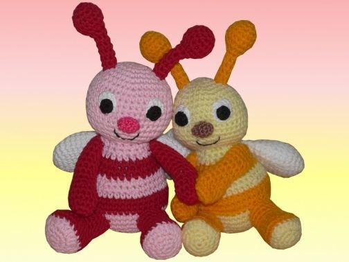 Häkelanleitung Tipsi die Hummel und ihre Schwester Fipsi
