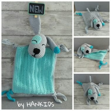HANKIDS Anki\'s Hands for Kids - Schnuffeltuch Hund - Häkelanleitung ...