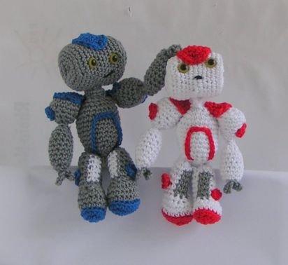 Häkelanleitung Roboter Harry und Sally