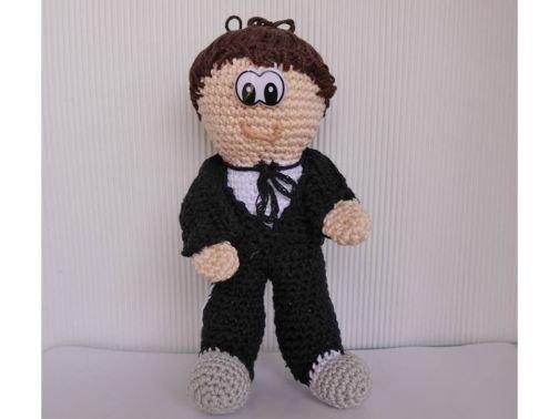 Bräutigam Amigurumi Puppe