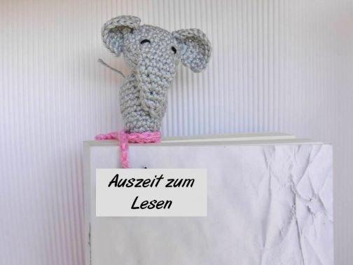 Lesezeichen Elefant Häkelanleitung