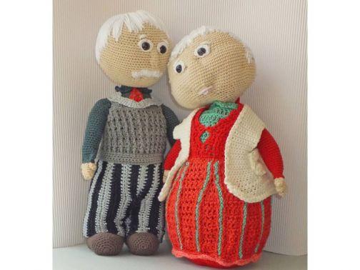 Großeltern - alte Liebe rostet nicht - zum Häkeln