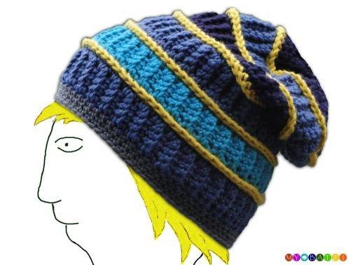 Mütze / Beanie mit Streifen häkeln