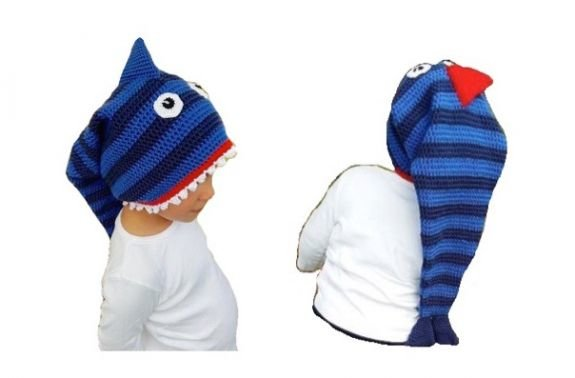 """Häkelanleitung """"(Hai)Fischmütze"""" KU 36-59"""