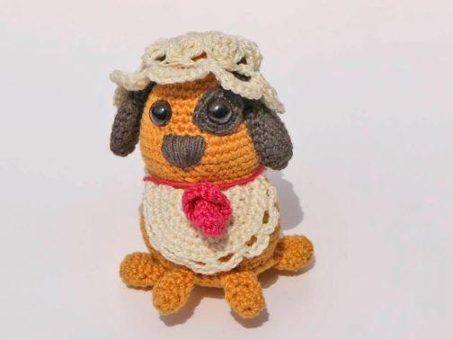 """Baby Hund """"Hab mich Lieb"""" Amigurumi - Häkelanleitung"""