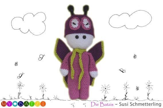 Häkelanleitung - Die Batzis - Susi Schmetterling