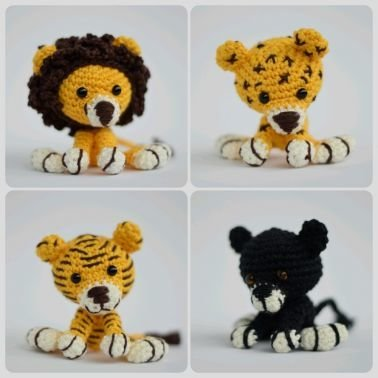 Haekelicious Löwe / Leopard / Panther