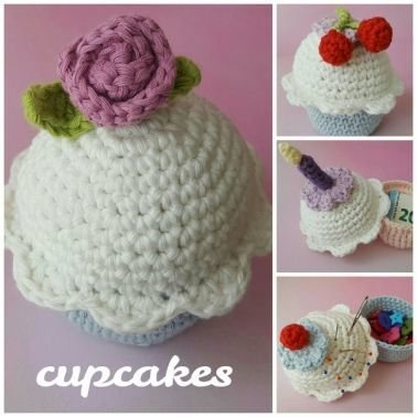 Häkelanleitung cupcake