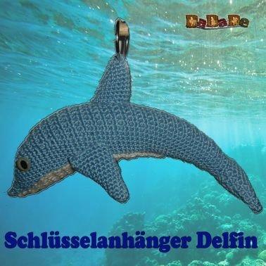 Delfin, Schlüssel-, Ranzen-, oder Autospiegelanhänger