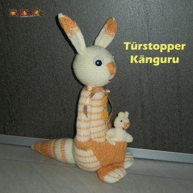 Tür Stopper Känguru mit Baby, schöne Dekoration