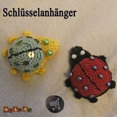 Schlüsselanhänger Käfer mit Chip-Tasche z.B für Geldgeschenk