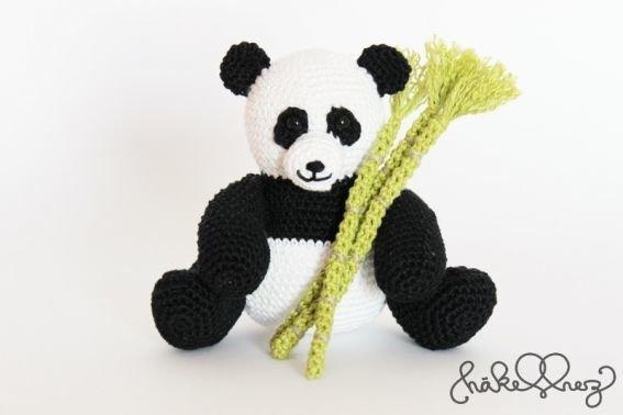 Häkelanleitung Pandabär SamSam