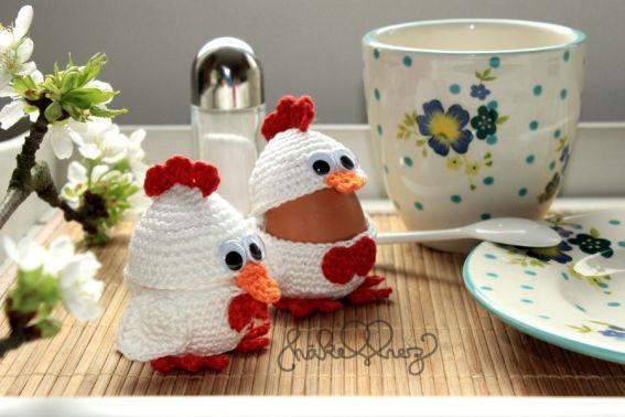 Häkelanleitung Hühner-Eierbecher
