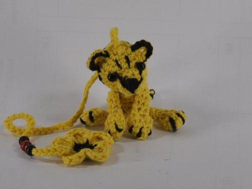 Häkelanleitung Tiger Schlüsselanhänger