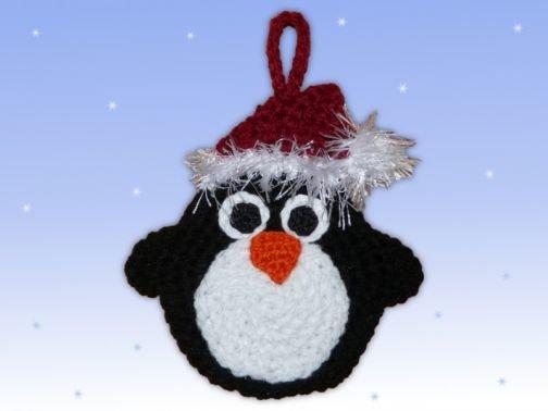 Häkelanleitung Adventskalender Beutel Pinguin
