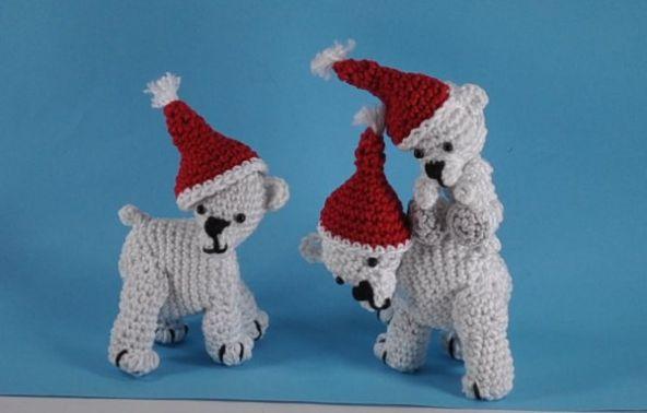 Weihnachten bei den Eisbären Amigurumi Häkelanleitung